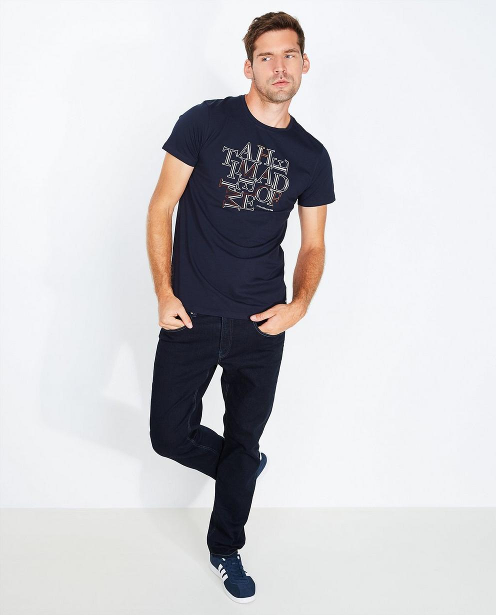 Marineblauw T-shirt - van biokatoen - Iveo